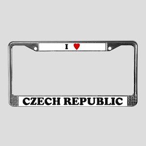 I Love Czech Republic License Plate Frame