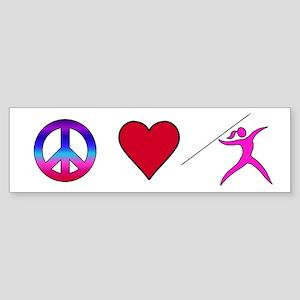 Peace Love Javelin Sticker (Bumper)