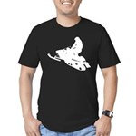 Snowmobile Men's Fitted T-Shirt (dark)