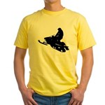 Snowmobile Yellow T-Shirt