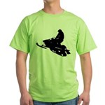Snowmobile Green T-Shirt
