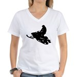Snowmobile Women's V-Neck T-Shirt