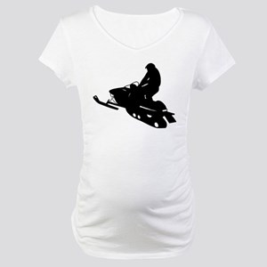 Snowmobile Maternity T-Shirt