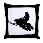 Snowmobile Throw Pillow