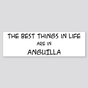 Best Things in Life: Anguilla Bumper Sticker