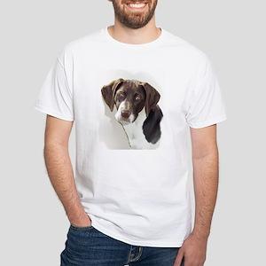 german shorthair Pointer Port White T-Shirt