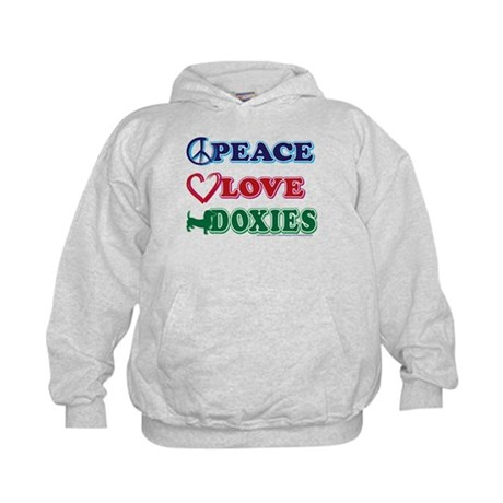 Peace Love Doxies - Dachshunds Kids Hoodie