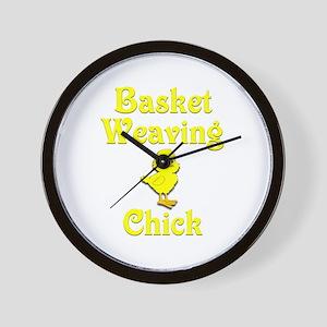 Basket Weaving Chick Wall Clock