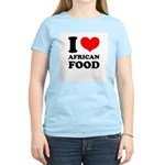 I Love African Food Women's Pink T-Shirt