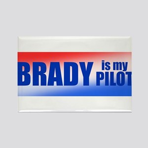 Brady Is My Pilot Rectangle Magnet