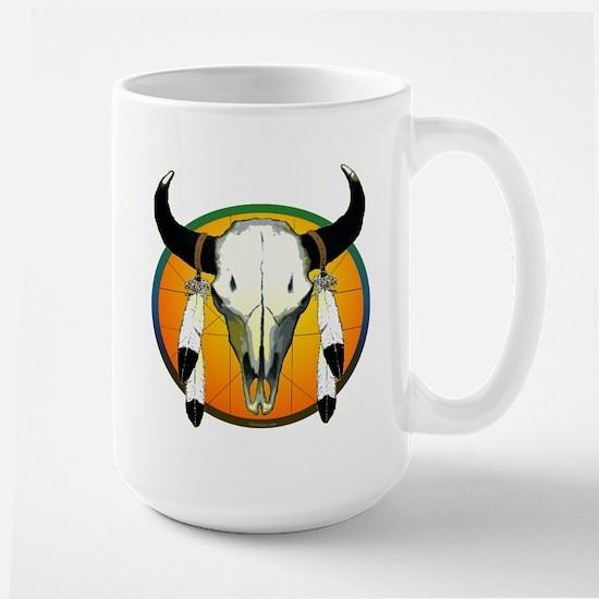 Buffalo skull Large Mug