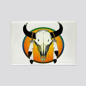 Buffalo skull Rectangle Magnet
