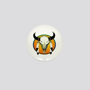 Buffalo skull Mini Button