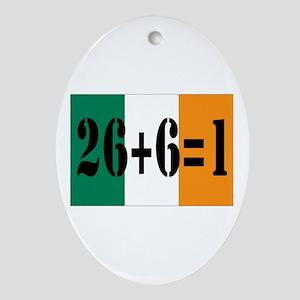 Irish pride Oval Ornament