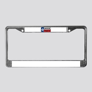 Boxer Proud License Plate Frame