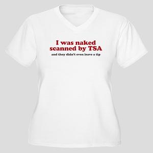 I was naked scanned by TSA Women's Plus Size V-Nec