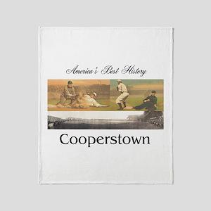Cooperstown Americasbesthistory.com Throw Blanket