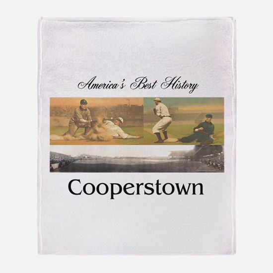 Cooperstown Americasbesthistory.com Throw Blanket