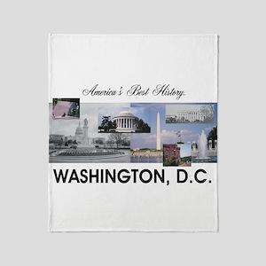 Washington Americasbesthistory.com Throw Blanket