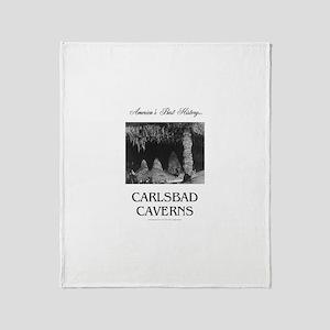 Carlsbad Caverns Americasbesthistory Throw Blanket