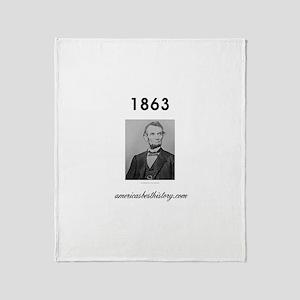 Timeline 1863 Throw Blanket