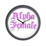 Alpha Female Wall Clock