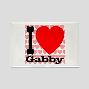 I Love Gabby Rectangle Magnet
