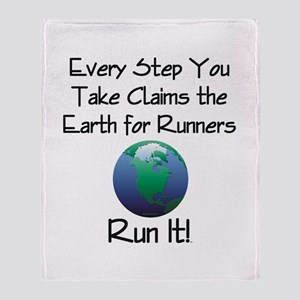 TOP Run Earth Throw Blanket
