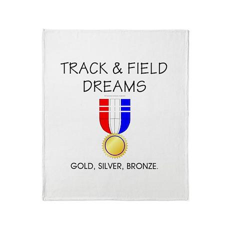 Track & Field Dreams Throw Blanket