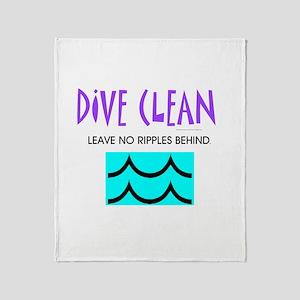 Dive Clean Throw Blanket
