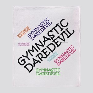 Gymnastics Daredevil Throw Blanket