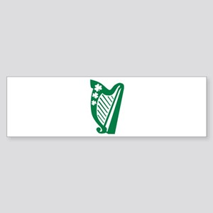 Irish harp Sticker (Bumper)