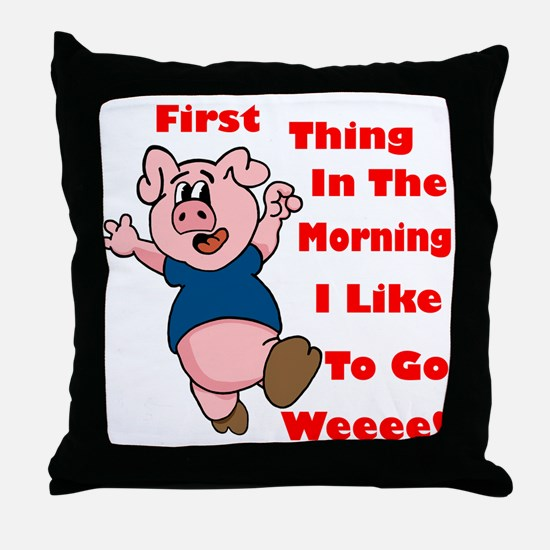 The Wee Pig Throw Pillow
