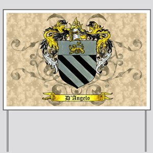 D'Angelo Family Crest Yard Sign