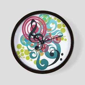 Music Swirl Wall Clock
