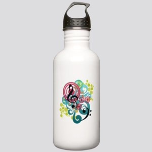 Music Swirl Stainless Water Bottle 1.0L