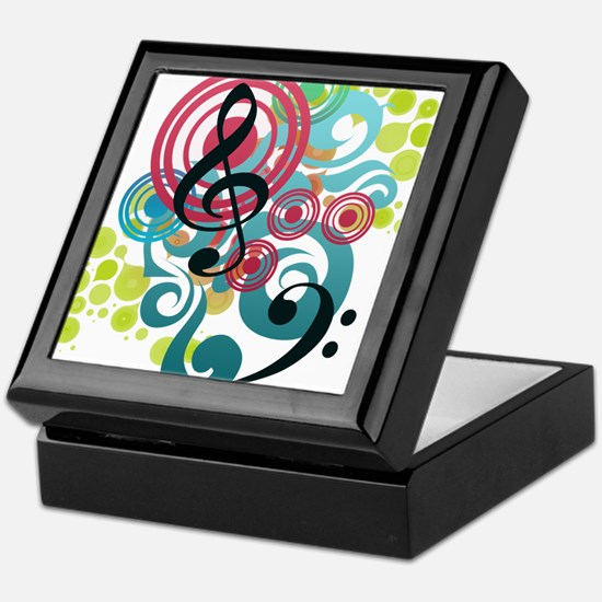 Music Swirl Keepsake Box