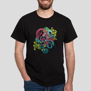 Music Swirl Dark T-Shirt