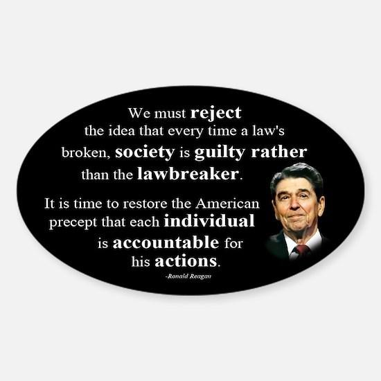 Reagan Quote - Individual Accountable Decal
