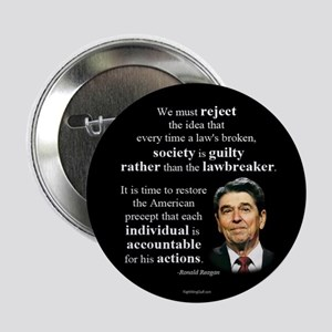 "Reagan Quote - Individual Accountable 2.25"" Button"