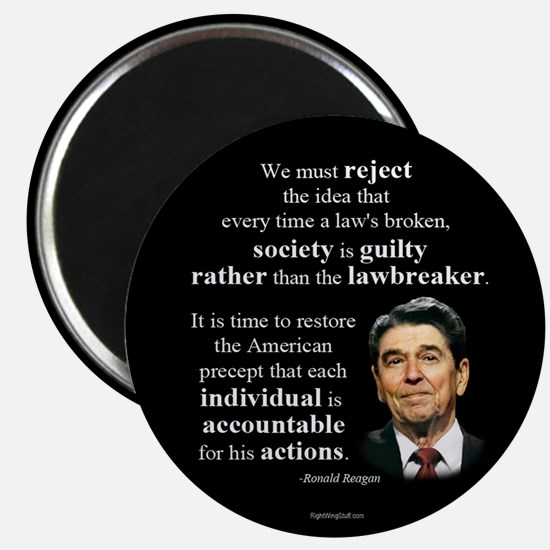 "Reagan Quote - Individual Accountable 2.25"" Magnet"