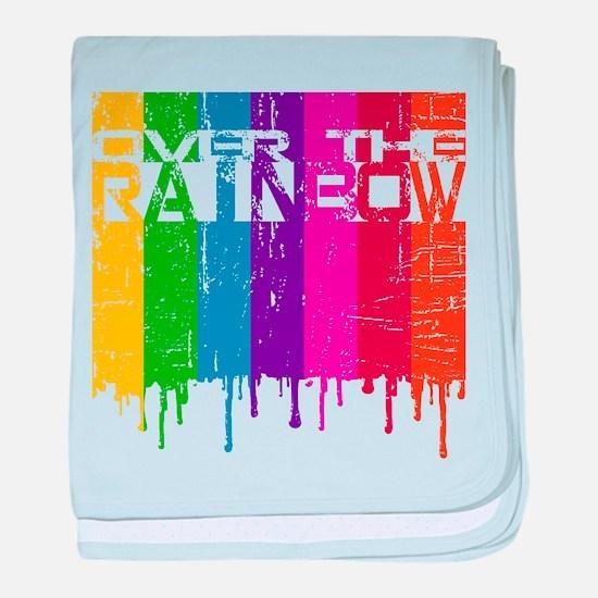 Over the Rainbow baby blanket