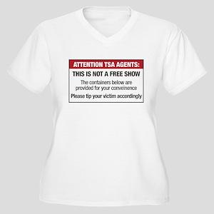 Attention TSA Agents (frontsi Women's Plus Size V-