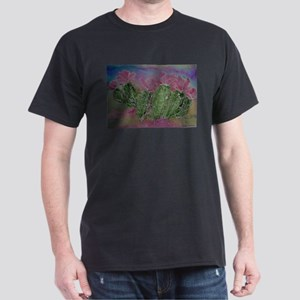 Cactus, Blossoms, Colorful, Dark T-Shirt