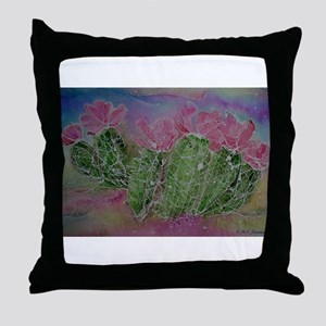 Cactus, Blossoms, Colorful, Throw Pillow