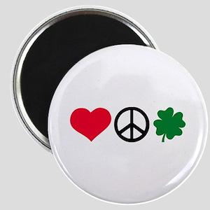 Love, Peace & Shamrock Magnet