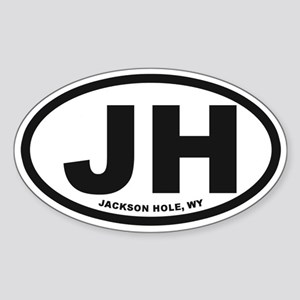 Jackson Hole Sticker (Oval)