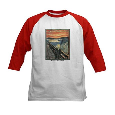 Edvard Munch Scream (Front) Kids Baseball Jersey