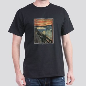 Edvard Munch Scream (Front) Black T-Shirt