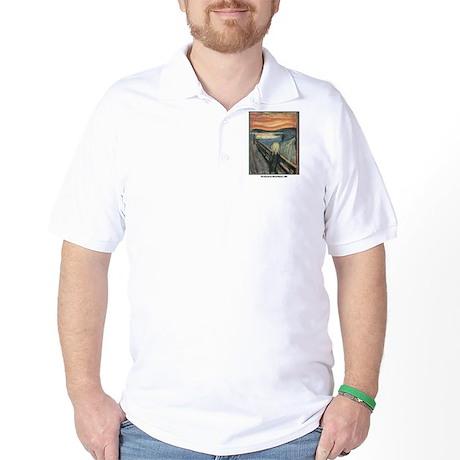 Edvard Munch Scream Golf Shirt